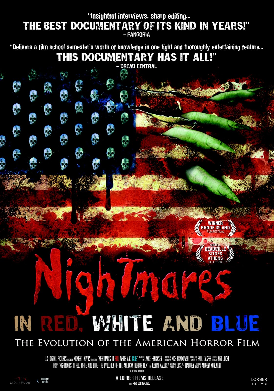Cover of 2009 film Nightmares In Red, White & Blue