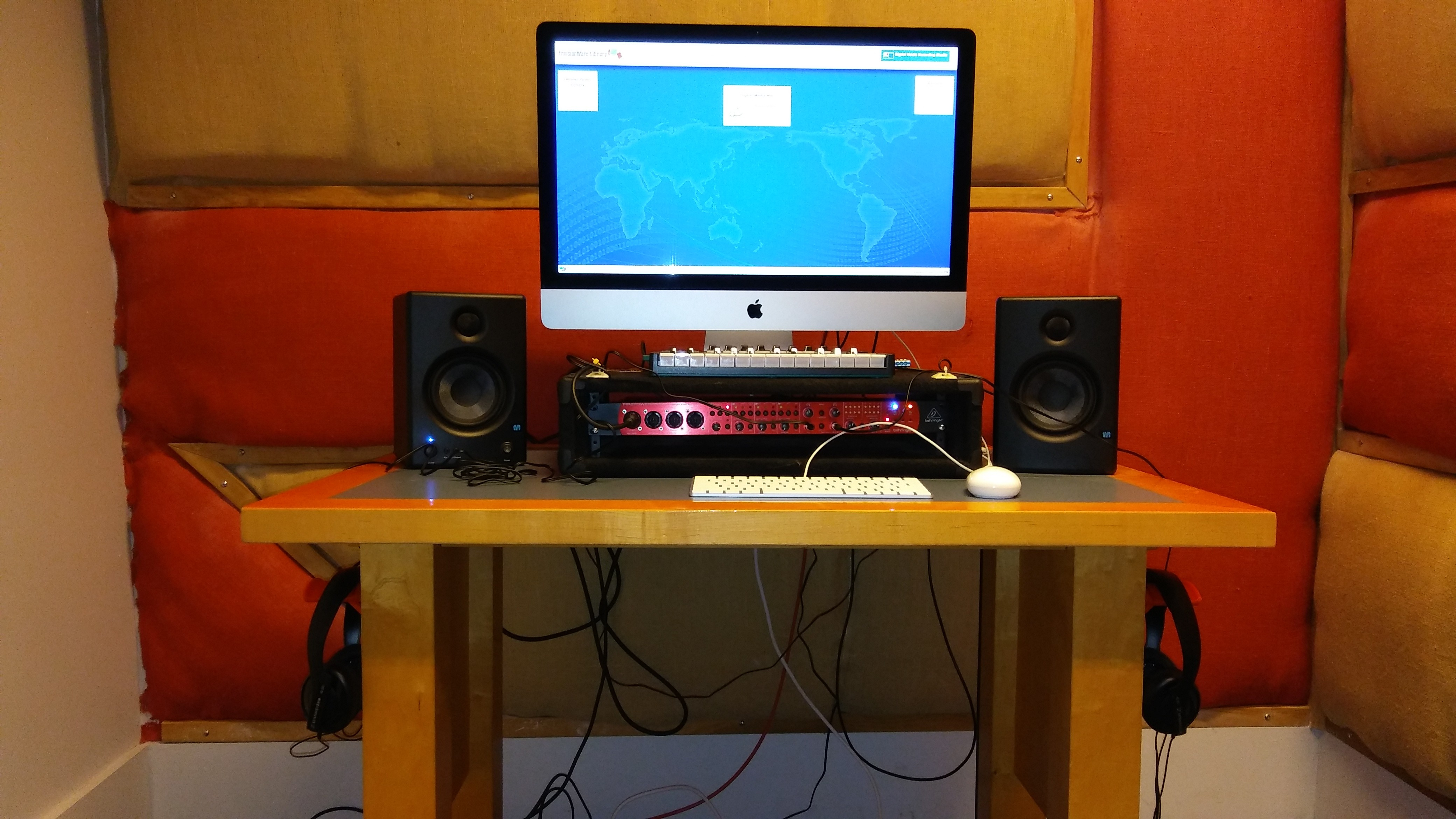 The studio workstation in the CTC Studio