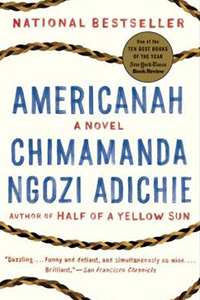 Book cover for Americanah by Chimamanda Ngozi Adichie
