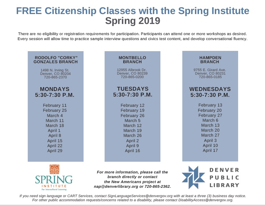 Thumbnail image of Spring Institute calendar