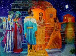 Colored pencil drawing of The Three Wise Men by James Dixon