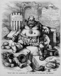 Drawing of Boss Tweed