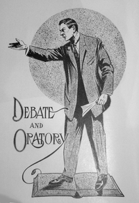 """Debate and Oratory,"" 1909 University of Washington yearbook, public domain"