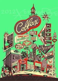Colfax Avenue: A Strip Down Memory Lane artwork courtesy of Kenny Be