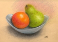 pear and orange