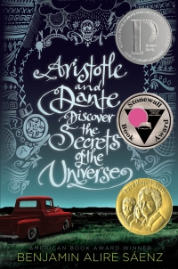 "Cover of ""Aristotle and Dante Discover the Secrets of the Universe,"" available from DPL"