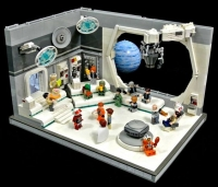 Inside View of a Space Station made with LEGO® Building Blocks