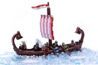 Viking Ship made with LEGO® Building Blocks