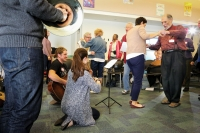 Dancing and music are popular at the Memory Cafe