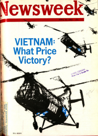 Newsweek cover showing Vietnam-era helicopters