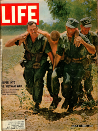 Life magazine covers showing soldiers in Vietnam