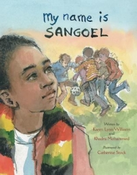 "Cover of ""My Name is Sangoel,"" available from DPL."