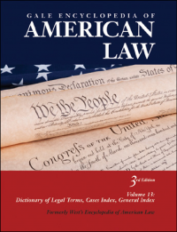 Cover image of Gale Encyclopedia of American Law