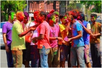 Holi celebration in India.