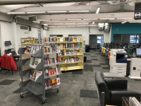 Clean, open lines in the remodeled Hadley Branch Library