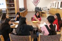 Students at Bruce Randolph School interview Dr. Michele Trujillo