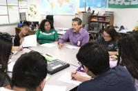 Students in Doug Moehle's Social Studies class interview Anthony Aragon