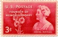 Moina Michael Stamp US Postage Poppy Memorial 1948