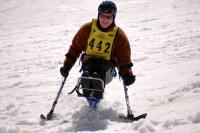 Disabled skier