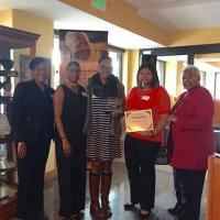 Sydney Cross Watts receives the Juanita Gray Community Service Award
