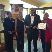 donnie l. betts receives the Juanita Gray Community Service Award