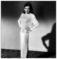 Judy Garland doing costume tests for the part of Helen Lawson. She was fired from the film.