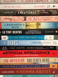 book stack 2020 titles