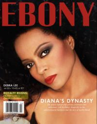 Cover of Ebony Magazine with Diana Ross on the cover