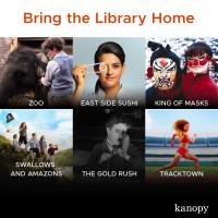 Kanopy tiles promoting selected films