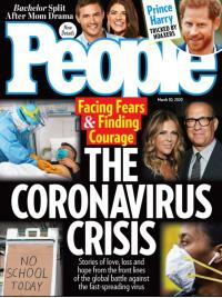 People Magazine cover with The Coronavirus Crisis as the cover story
