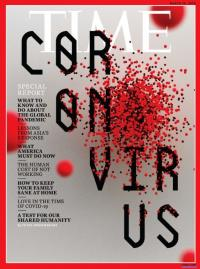 "Cover of Time Magazine with ""Coronavirus"" on the cover"