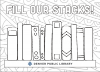 Fill our stacks postcard