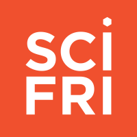 Stacked text that reads, SciFri.