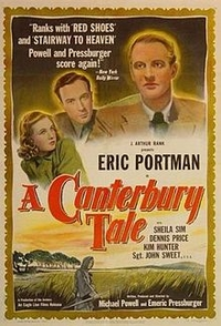 "Poster from the 1944 film, ""A Canterbury Tale."""