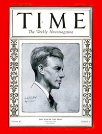 Time Magazine cover - Charles A. Lindberg
