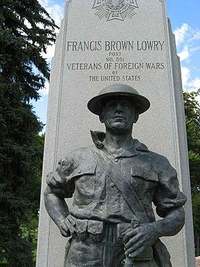 Francis Brown Lowry monument by John Paulding