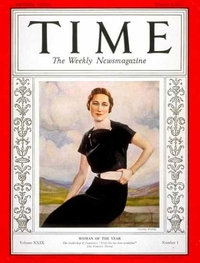 Time Magazine cover - Mrs. Wallis Warfield Simpson