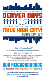 Denver Days Flyer