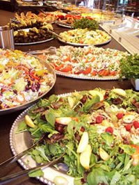 a selection of Jewish salads