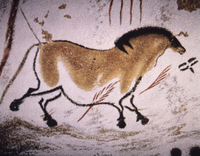 Wall painting in cave at Lascaux
