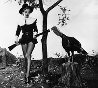 An early publicity shot of Marilyn Monroe as Pilgrim. MM loved Thanksgiving.