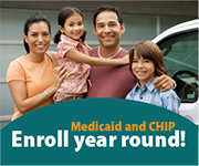 Enroll year around - Courtesy of Medicaid.gov
