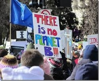 "Rally sign that says, ""There is no Planet B!!!"""