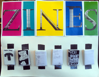 Zines on display at Byers Branch Library from now until Sat., April 5