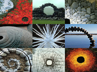 collage of andy goldsworthy work