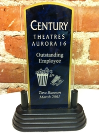 March 2001 Employee of the Month Award from Aurora Century 16