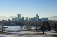Photo of Denver skyline.