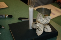 Paper flower & book candle holder