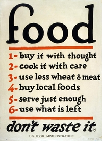 US Food Administration WWI propaganda poster.