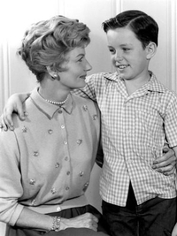 june cleaver and happy son